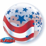 American Stars and Stripes Bubble Balloon 22in Pk 1