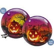 Halloween Pumpkin Bubble Balloon 22in Pk 1