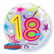 Balloon Bubble 18 Brilliant Stars 22in Pk1