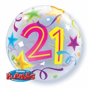 Bubble Balloon 21 Brilliant Stars 22in Pk1