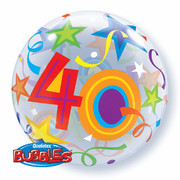 Balloon Bubble 40 Brilliant Stars 22in Pk1