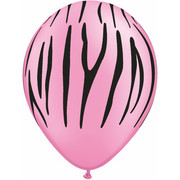 Neon Animal Print Latex Party Balloons - Assorted  Pk10