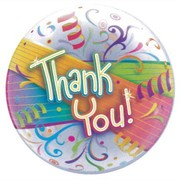 Thank You Streamers Bubble Balloon (22in./56cm) Pk 1