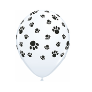 Latex Balloons Paw Prints Pk10