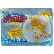 Baby Boy Bear Double Bubble Balloon Pk1