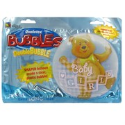 Balloon Double Bubble Bear Baby Girl Pk1