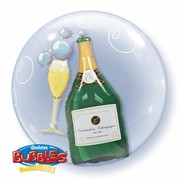 Double Bubble Party Balloon - Champagne Pk1