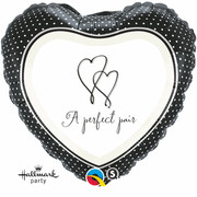 18in Foil Heart Balloon A Perfect Pair Pk1