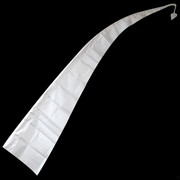 Bali Flag With Tail 3m White Pk1 (Pole Not Included)