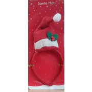 Mini Santa Hat on Headband Pk 1