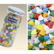 Rainbow Colour Hearts Sprinkles Edible Cake Decorations (50g) Pk 1