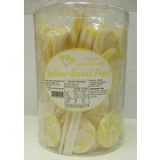 Yellow Swirl Lollipops (750g - 15g Each) Pk 50