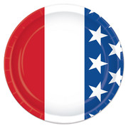 America Stars and Stripes 7in. Paper Plates Pk 8