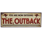 Australian Outback Sign Cutout 8x22 in Pk1