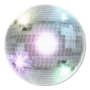 70s Mirror Ball Cutout Pk 1