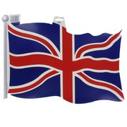 Cutout Flag British 18 inch Pk1