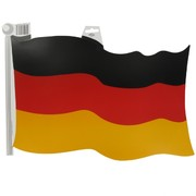 Cutout Flag German 18 inch Pk1