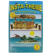 Decoration Tiki Bar & Island Hawaiian Props Background Pk1