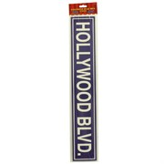 Party Decoration - Hollywood Street Sign Cutouts (24in) Pk4 (Assorted Designs)