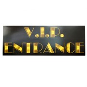 Hollywood Party Decoration - VIP Entrance Sign Pk1