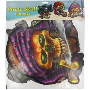 Scene Cutout Pirate Skull 18in Pk3