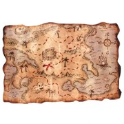 Decoration Pirate Treasure Map 12x18in Pk1