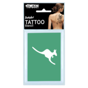 Kangaroo Temporary Tattoo Stencil Sheet Pk 1