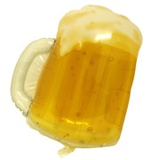 Balloon Foil Supershape Transparent Beer Mug Pk1