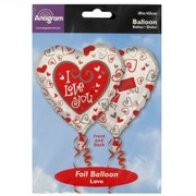 Balloon Foil 18in Simply Said Love Pk1