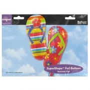 Balloon Foil Supershape Flip Flops Pk1
