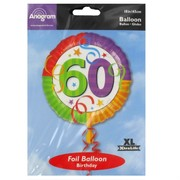 Balloon Foil 18in 60 Perfection Pk1