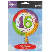 Balloon Foil 18in 16 Perfection Pk1