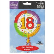 Balloon Foil 18in 18 Perfection Pk1
