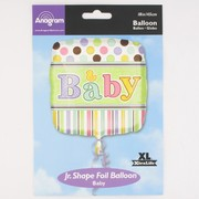 Baby Shower 18in Square Foil Balloon - Tiny Bundle Pk1