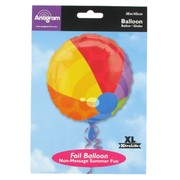 Balloon Foil 18in Beach Ball Pk1