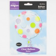 Clear Balloon with Dots (18in-45cm) Magicolour Pk1