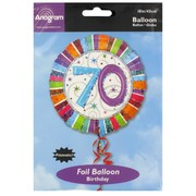 Balloon Foil 18in 70 Radiant Birthday Pk1