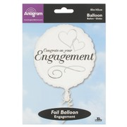 18in (45cm) Two Hearts Engagement Foil Balloon Pk1