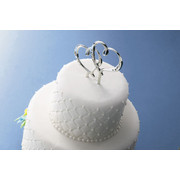 Wedding Topper Double Heart Pick 13.2cm Pk1