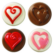 Heart Cookie Candy Mould with Recipe Card (8 Cavities) Pk 1