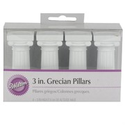 Cake Decorating Grecian Pillars 3in-7.6cm Pk4