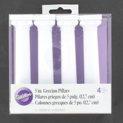 Cake Decorating Grecian Pillars 5in 12.7cm Pk4