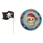 Baking Cups 5cm Pirate Combo Pk24