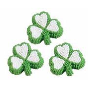 Edible Shamrock Cake Decorations Pk 9