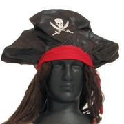 Pirate Wig & Hat Pk 1