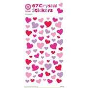 Assorted Crystal Hearts Stickers (67 Stickers)