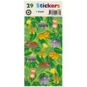 Stickers Two Fold Jungle (1 Sheet of 29 Stickers)