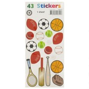 Stickers Two Fold Sports Theme (1 Sheet of 43 Stickers)