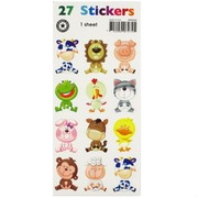 Stickers Two Fold Baby Animals (1 Sheet of 27 Stickers)