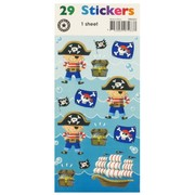 Stickers Two Fold Pirates & Skulls (1 Sheet of 29 Stickers)